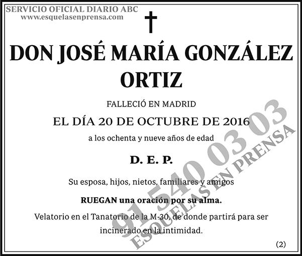 José María González Ortiz